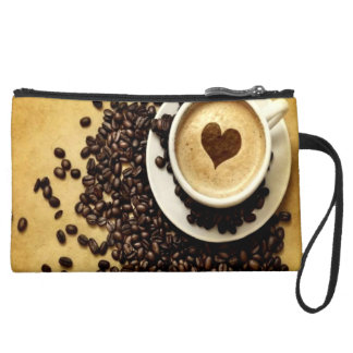 Personalized Coffee Lover Wristlet