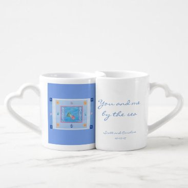Personalized Coffee Mugs heart beach love