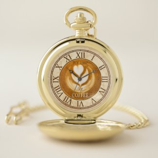 Personalized Coffee Vintage Pocket Watch