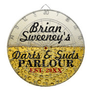 Personalized Cold Brew Dart Board