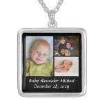 Personalized Collage Photo Necklace Black w/Text