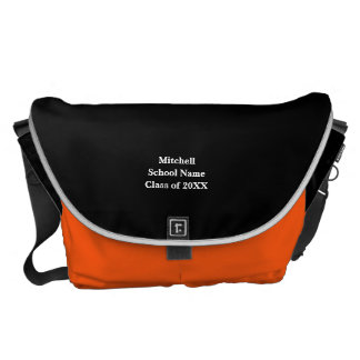 Personalized College Colors Messenger Bag