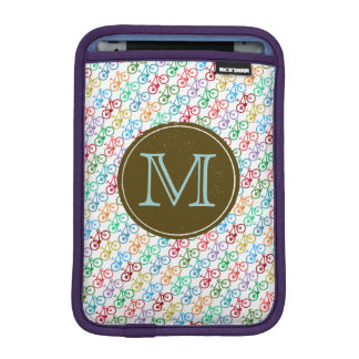 personalized color bicycle pattern iPad mini sleeve