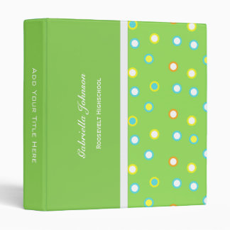 Personalized:  Color O's Binder 1