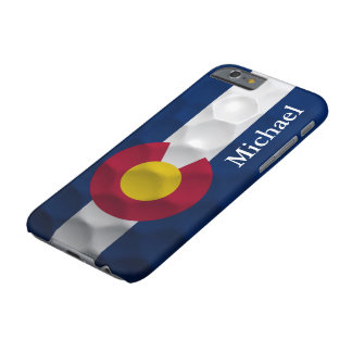 Personalized Colorado Flag Golf Ball Pattern Barely There iPhone 6 Case