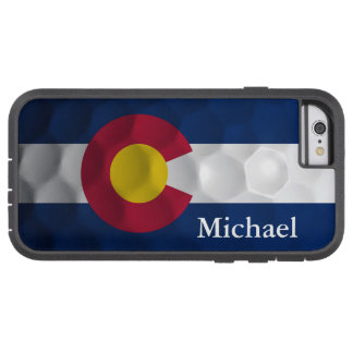 Personalized Colorado Flag Golf Ball Pattern iPhone 6 Case
