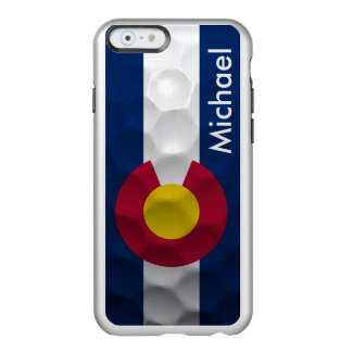 Personalized Colorado Flag Golf Ball Pattern Incipio Feather Shine iPhone 6 Case