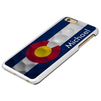 Personalized Colorado Flag Golf Ball Pattern Incipio Feather Shine iPhone 6 Plus Case