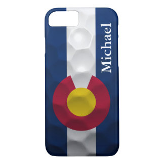 Personalized Colorado Flag Golf Ball Pattern iPhone 8/7 Case