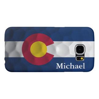 Personalized Colorado Flag Golf Ball Pattern Samsung Galaxy S6 Case