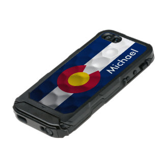 Personalized Colorado Flag Golf Ball Pattern Waterproof iPhone SE/5/5s Case