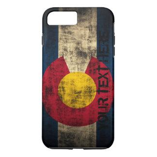Personalized Colorado Flag Vintage Grunge iPhone 7 Plus Case