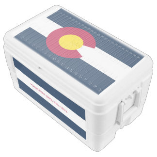 Personalized Colorado State Flag Cooler
