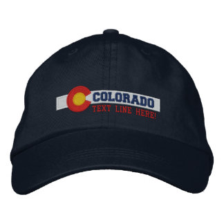 Personalized Colorado State Flag Design Embroidered Baseball Cap