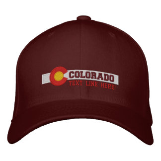 Personalized Colorado State Flag Design Embroidered Baseball Hat