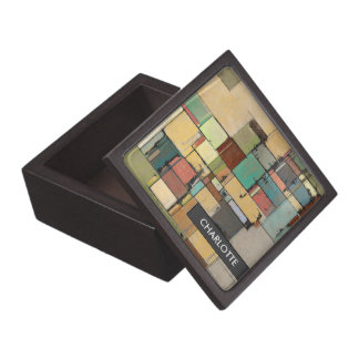 Personalized Colorful Abstract Jewelry/Trinket Box Premium Gift Box