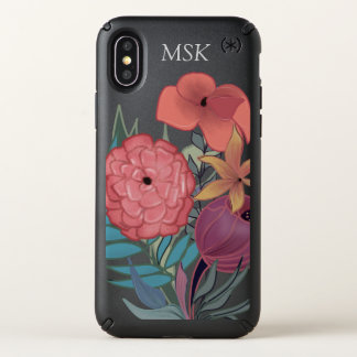 Personalized colorful and stylish floral speck iPhone x case
