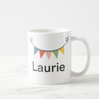 Personalized Colorful Bunting Banner Coffee Mug