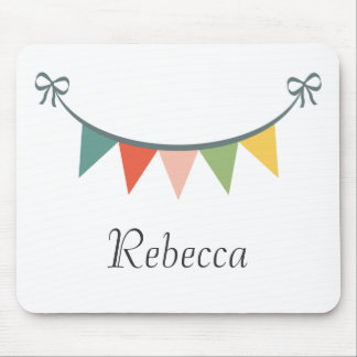 Personalized Colorful Bunting Banner Mousepad