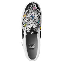 personalized colorful butterflies print shoes