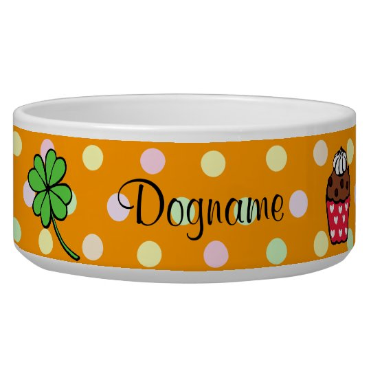 Personalized Colorful Cupcake and Cake Roll Bowl