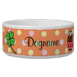 Personalized Colorful Cupcake and Cake Roll Pet Food Bowls