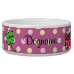 Personalized Colorful Cupcake and Cake Roll Dog Bowl