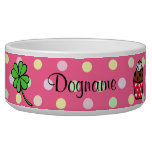 Personalized Colorful Cupcake and Cake Roll Pet Bowls
