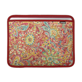 Personalized Colorful Floral Macbook Sleeve