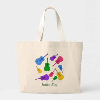 Personalized Colorful Guitar Collage Colors Bags