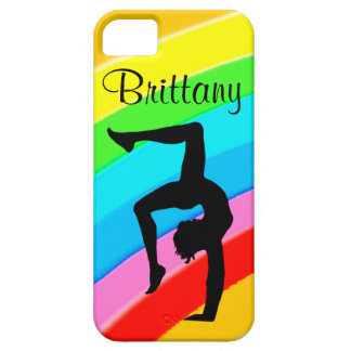 PERSONALIZED COLORFUL GYMNASTICS IPHONE CASE iPhone 5 CASES