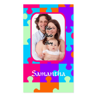 Personalized colorful jigsaw business card templates