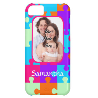 Personalized colorful jigsaw case for iPhone 5C