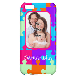Personalized colorful jigsaw cover for iPhone 5C