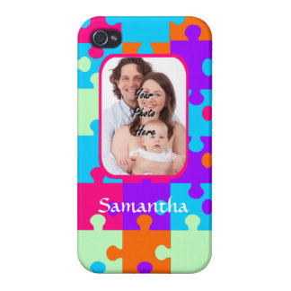 Personalized colorful jigsaw iPhone 4/4S case