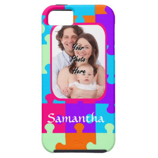 Personalized colorful jigsaw iPhone SE/5/5s case