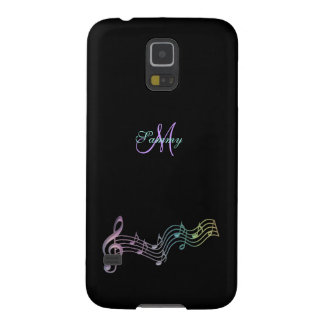 Personalized Colorful Music Notes Galaxy S5 Case