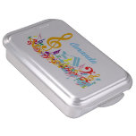 Personalized Colorful Musical Notes Cake Pan