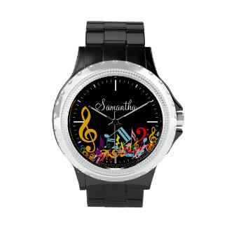Personalized Colorful Musical Notes Wrist Watches