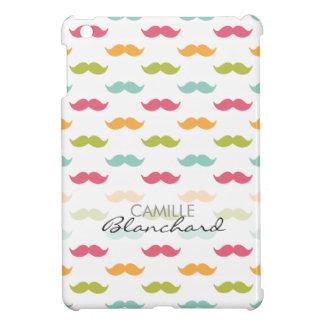 Personalized Colorful Mustache Lovers iPad Mini Case