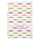 Personalized Colorful Mustache Lovers iPad Mini Cases