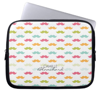 Personalized Colorful Mustache Lovers Laptop Computer Sleeves