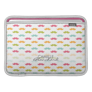 Personalized Colorful Mustache Lovers MacBook Air Sleeve