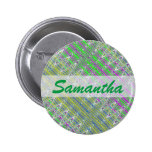 Personalized Colorful Pastel Zigzag Pattern 2 Inch Round Button