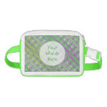Personalized Colorful Pastel Zigzag Pattern Nylon Fanny Pack