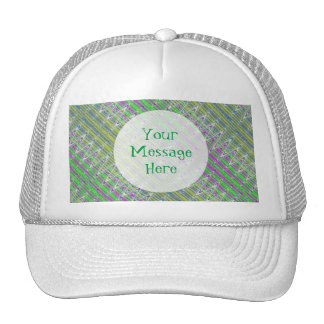 Personalized Colorful Pastel Zigzag Pattern Trucker Hat