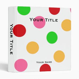 Personalized Colorful Polka Dot Pattern Binder