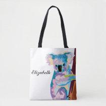 Personalized Colorful Pop Art Koala Tote Bag