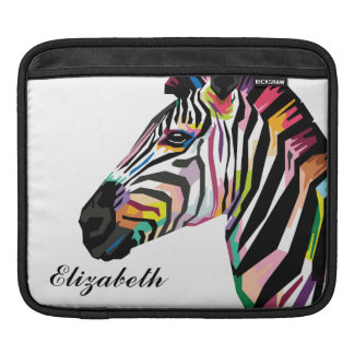Personalized Colorful Pop Art Zebra Sleeve For iPads