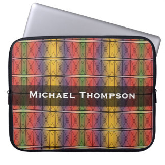 Personalized colorful rainbow pattern laptop sleeve